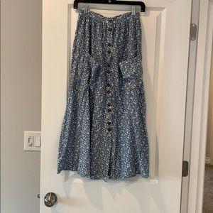 ASOS Blue Floral Skirt